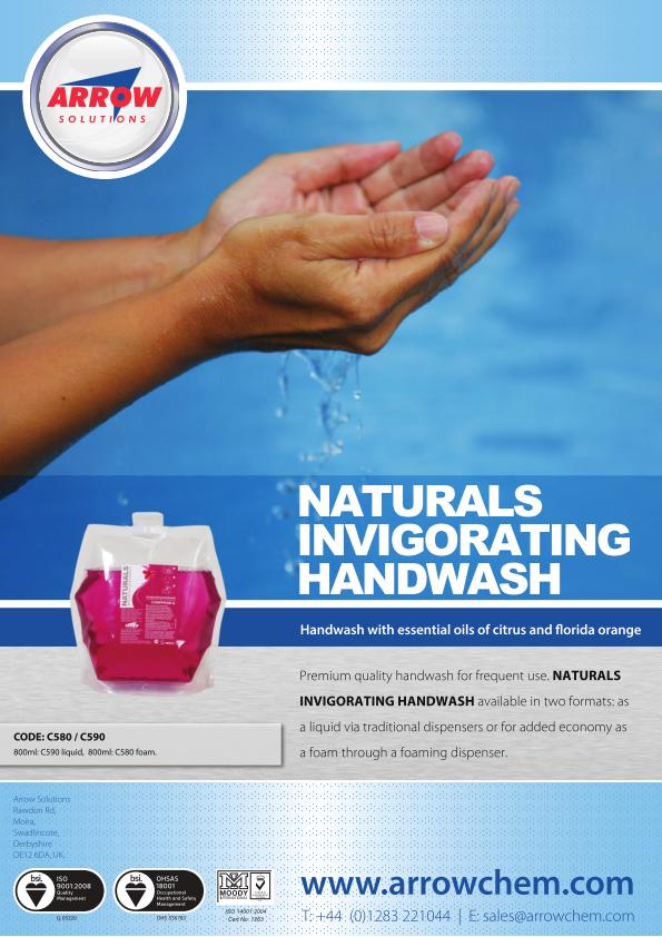 Arrow Naturals Handwash Poster