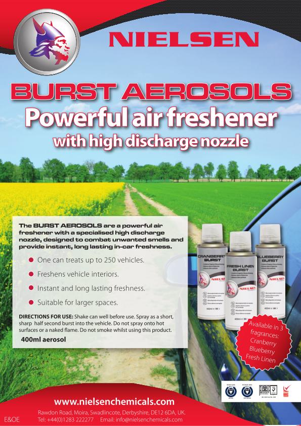 Nielsens Burst Aerosols Poster
