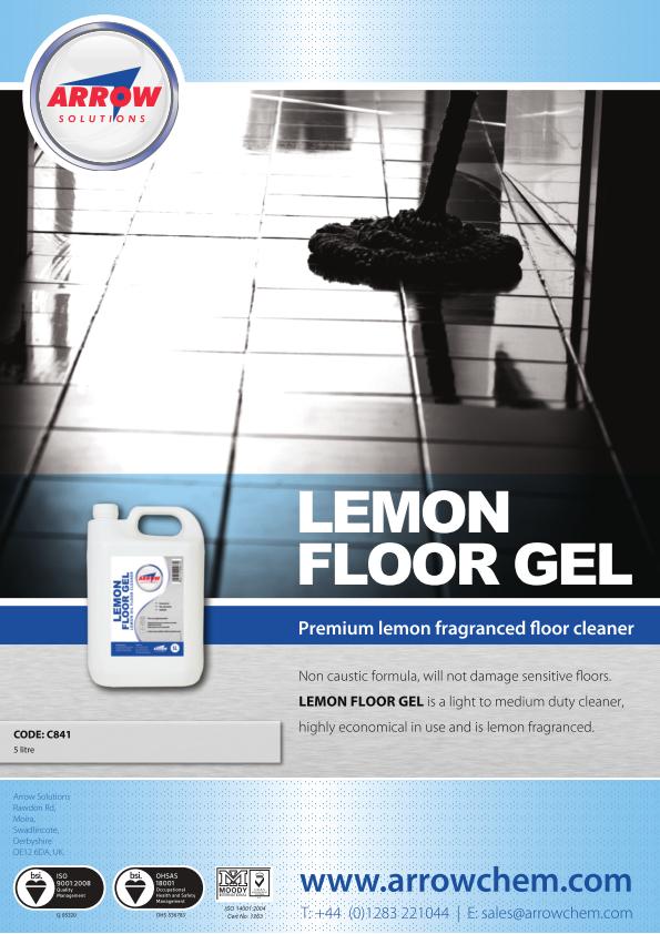 Lemon Floor Gel Poster