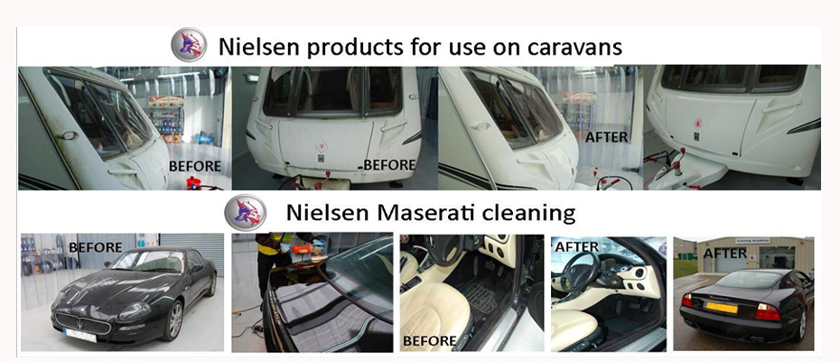 Caravan and Maserati Cleaning With Nielsen Products
